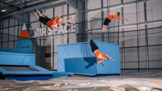 Air Space trampolining