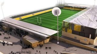 Planned stadium for Cornwall