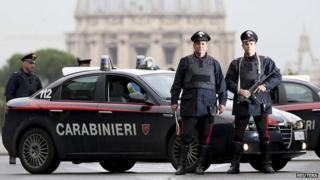 Rome carabinieri police - file pic