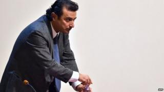 Francesco Schettino testifying in court about the Costa Concordia disaster