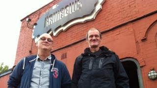 Rainbows manager Gary Joines and Trevor Bott