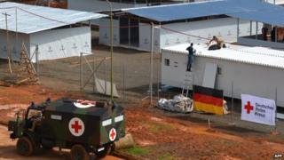German Red Cross centre in Liberia