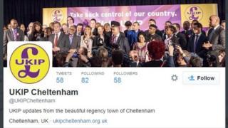 @UKIPCheltenham Twitter page
