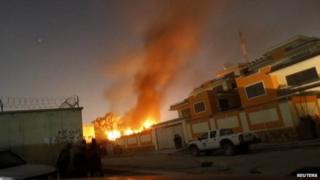 Scene of Taliban attack in Kabul on 29 November