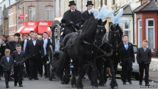 Andrew Colwyn's funeral