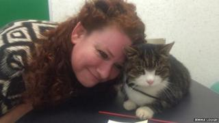 Jemma Lough and her cat Toby