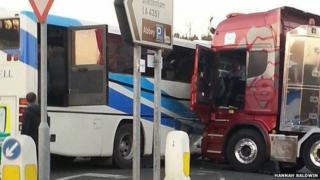 Coach crash near Pershore