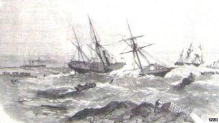Wreck of the Stanley and the Friendship