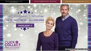 Edinburgh Woollen Mill website