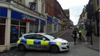 The scene of the stabbing in Wellington Street