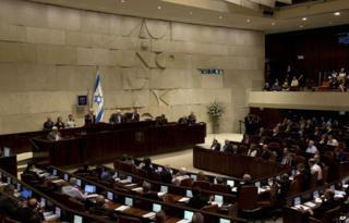 Israel's Prime Minister Benjamin Netanyahu speaks during the opening session of the Knesset, Israel's parliament, in Jerusalem, Monday, Oct. 27, 2014