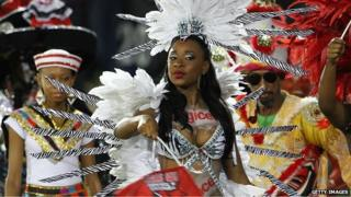 Trinidad carnival performers