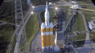 Orion on launch pad