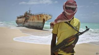 Pirate on Somali coast - file pic