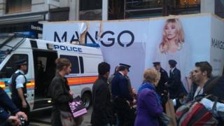 Mango hoarding on Oxford Street