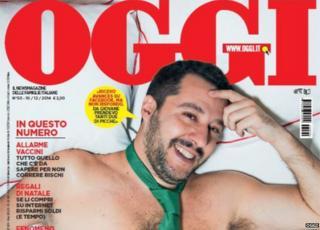 Matteo Salvini on the cover of Oggi