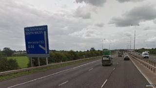 Generic view of the M5 motorway