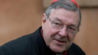 George Pell at a church meeting last year