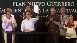 President Pena Nieto announced his economic plan for Guerrero state 4 Dec 2014