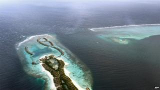 File photo: An aerial view of one of the many luxurious resorts in the Maldives in the Indian Ocean, 9 September 2013