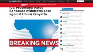 Screengrab of Kenyan Daily Nation website