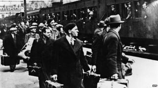 File photo: Foreign Jews, mainly Polish Jews, getting off the train in Pithiviers, central France, May 1941. Thousands of Jews were imprisoned in the transit camp of Pithiviers et Beaune-la-Rolande during World War Two