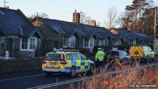 Police car on A697