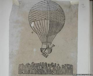 A song written in the 1780s to celebrate the first ever balloon flight from Manchester