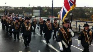 The Apprentice Boys have been marching on their way to a church service