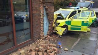 London Ambulance Service rapid response car crash in Battersea