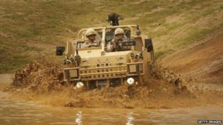 A Jackal long range surveillance and reconnaissance vehicle