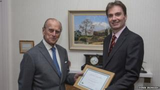Duke of Edinburgh with David Johnstone, Chairman, Scottish Land & Estates.