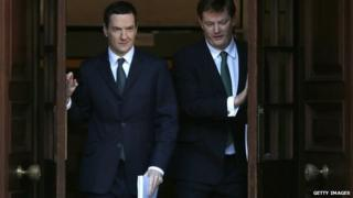 George Osborne, left
