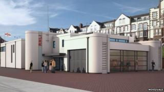 Artist's impression of new Bridlington lifeboat station