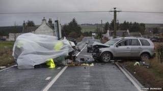Scene of the fatal crash