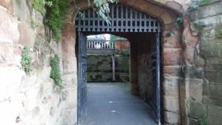 Water gate at Worcester Cathedral