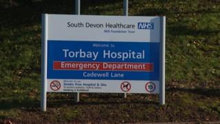 Torbay Hospital sign