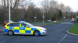Police car at Willowdene Way, St Mellons