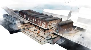 Artist impression of the new exhibition space