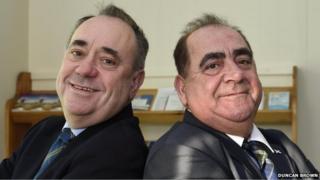 Alex Salmond and John MacLeod