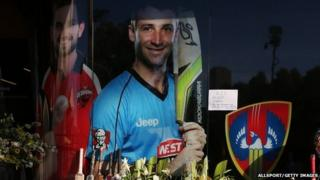Tributes to Phillip Hughes at Adelaide Oval