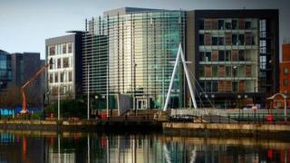 Office buildings in Cardiff Bay