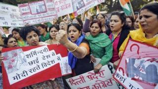 Protesters in New Delhi