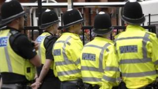 West Midlands Police officers attend a terror training drill