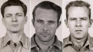 Police photos of Frank Morris, John Anglin and Clarence Anglin