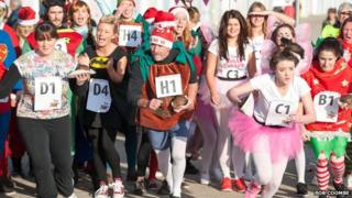 Christmas pudding race