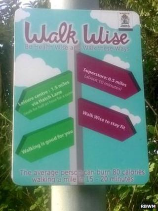 Walk Wise sign posts
