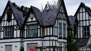 Grange Hotel, Rhyl, after the 2008 fire