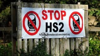 A stop HS2 sign