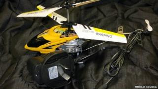 Seized helicopter